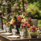 Jewel Toned Centerpieces for a Lush Summer Garden Wedding | Lovely and Light | See More! http://heyweddinglady.com/southern-garden-wedding-brunch-in-jewel-tones-from-lovely-and-light/