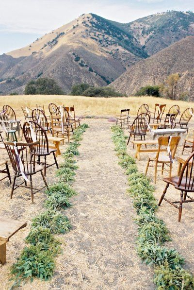 Wide Open Spaces - Outdoor Mountain Wedding Ceremony | B. Wright Photography | See More! http://heyweddinglady.com/natural-earthy-wedding-inspiration-in-terra-cotta-gold-green/