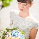Classic Blue, White, and Green Basque Wedding Inspiration with a Glittering Vintage Dress | Plenty to Declare Weddings | See More! http://heyweddinglady.com/classic-basque-wedding-inspiration-in-san-sebastian/
