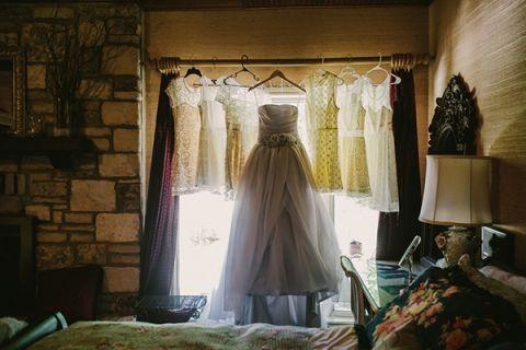 Gorgeous Gray Vera Wang Wedding Dress | PhotoHouse Films | See More! https://heyweddinglady.com/ethereal-texas-garden-wedding-in-gray-pink-and-gold/