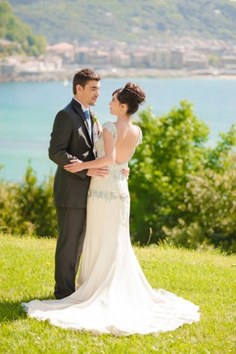 Classic Glam Wedding Style for a Destination Wedding in Spain   Plenty to Declare Weddings   See More! http://heyweddinglady.com/classic-basque-wedding-inspiration-in-san-sebastian/