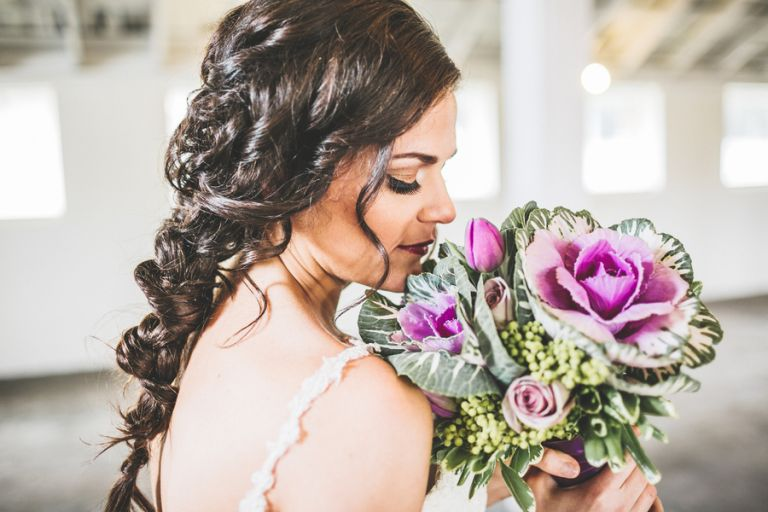 Elaborate Braided Bridal Hairstyle | Jacquelynn Brynn Photography | See More! https://heyweddinglady.com/classic-modern-wedding-day-style-from-jacquelynn-brynn-photography/