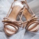 Prada Bow Wedding Shoes | BRC Photography | See More! http://heyweddinglady.com/impossibly-chic-modern-art-inspired-wedding/