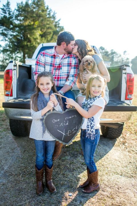 The Sweetest Family Engagement Shoot! | Amy Allen Photography | See More! https://heyweddinglady.com/rustic-americana-engagement-for-the-fourth-of-july/
