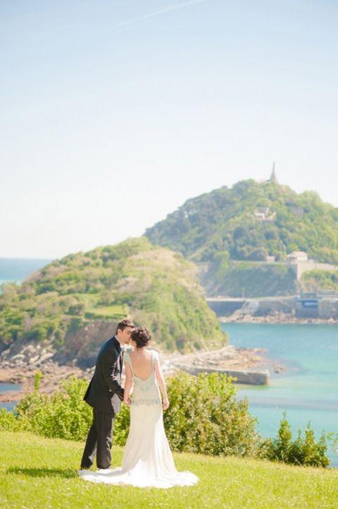 Stunning Views for a Bayside Villa Wedding   Plenty to Declare Weddings   See More! http://heyweddinglady.com/classic-basque-wedding-inspiration-in-san-sebastian/
