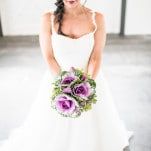 Eclectic Purple Cabbage Bridal Bouquet | Jacquelynn Brynn Photography | See More! http://heyweddinglady.com/classic-modern-wedding-day-style-from-jacquelynn-brynn-photography/