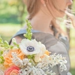 Gorgeous Summer Bouquets of Anemones, Ranunculus, and Dusty Miller | Dust Studios | See More! https://heyweddinglady.com/handmade-and-homespun-country-wedding-from-dust-studios/