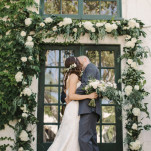 Gorgeous Fresh Greenery and White Floral Wedding Arch | Vitaly M Photography | See More! https://heyweddinglady.com/historic-villa-wedding-in-southern-california/