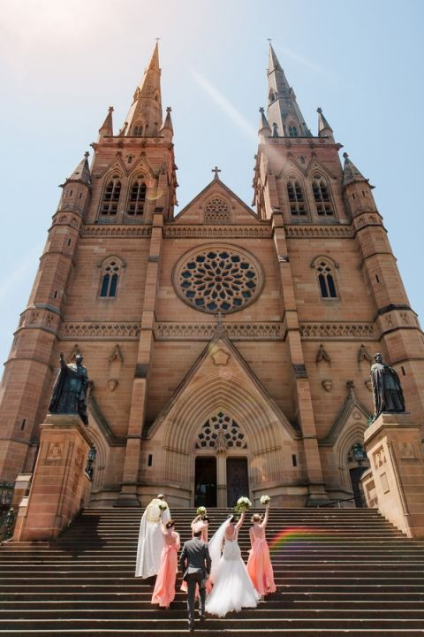 Dramatic and Glamorous Wedding Ceremony at St. Marys Cathedral in Sydney, Australia | Hilary Cam Photography | See More! http://heyweddinglady.com/midsummer-nights-dream-wedding-in-a-secret-garden/