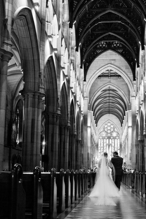 Gorgeous Cathedral Wedding at St. Marys in Sydney, Australia | Hilary Cam Photography | See More! http://heyweddinglady.com/midsummer-nights-dream-wedding-in-a-secret-garden/