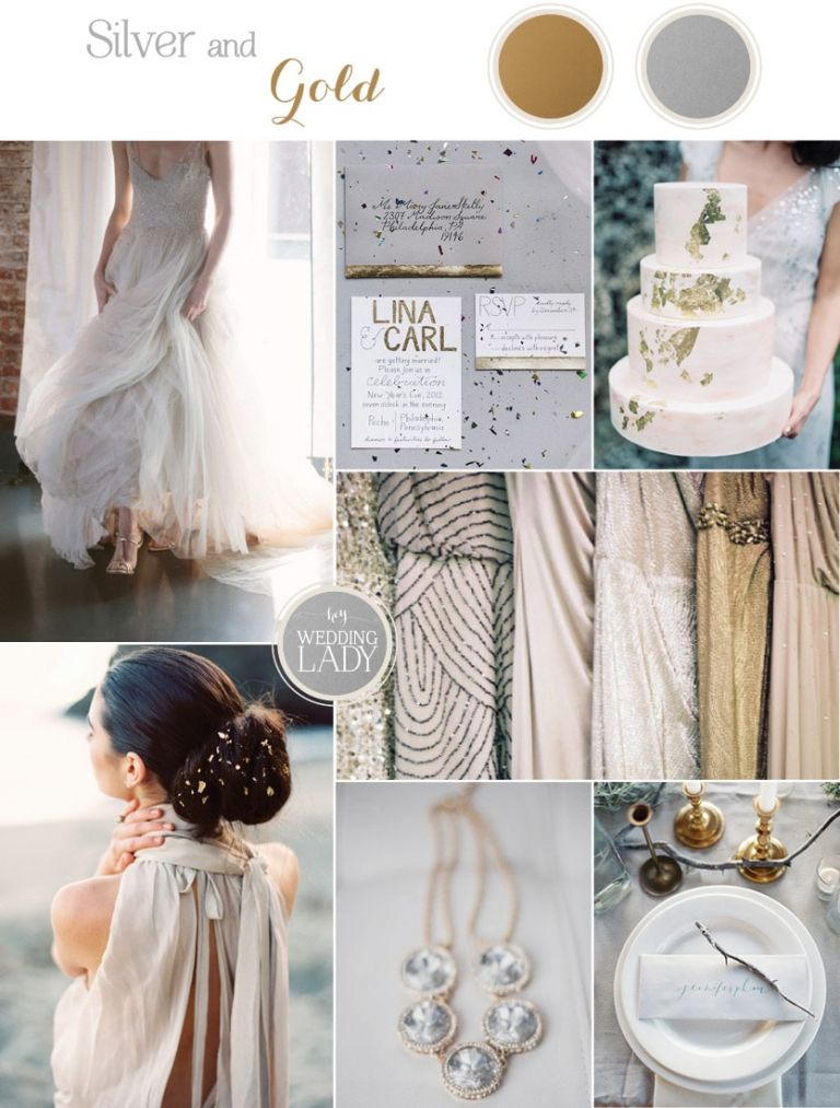 Minimalist Metallic Wedding Inspiration with Rustic Silver and Gold Leaf Details | See More! https://heyweddinglady.com/chic-metallic-wedding-with-silver-and-gold-leaf-accents/