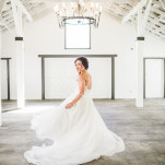 The Perfect Wedding Dress - one you can twirl in! | Jacquelynn Brynn Photography | See More! http://heyweddinglady.com/classic-modern-wedding-day-style-from-jacquelynn-brynn-photography/