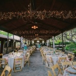 Pink, Sparkling Garden Wedding under Twinkling Lights | PhotoHouse Films | See More! http://heyweddinglady.com/ethereal-texas-garden-wedding-in-gray-pink-and-gold/