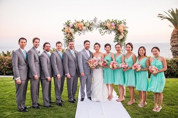 Coral Peach And Aqua Wedding By The Sea Hey Wedding Lady