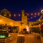 A Southern California Wedding Reception with Bistro Lighting | D. Park Photography | See More! http://heyweddinglady.com/coral-peach-and-aqua-wedding-by-the-sea/