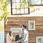 Rustic Homespun Country Wedding Ceremony with a Reclaimed Wood Backdrop | Dust Studios | See More! http://heyweddinglady.com/handmade-and-homespun-country-wedding-from-dust-studios/