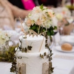 A Secret Garden Wedding Cake - designed by the bride! | Hilary Cam Photography | See More! https://heyweddinglady.com/midsummer-nights-dream-wedding-in-a-secret-garden/