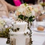 A Secret Garden Wedding Cake - designed by the bride! | Hilary Cam Photography | See More! https://heyweddinglady.com/midsummer-nights-dream-wedding-in-a-secret-garden/