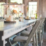 A Romantic Orange and Gray Rustic Barn Wedding | Dust Studios | See More! http://heyweddinglady.com/handmade-and-homespun-country-wedding-from-dust-studios/