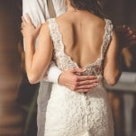 Gorgeous Lace Wedding Dress with a Low Back | Dust Studios | See More! http://heyweddinglady.com/handmade-and-homespun-country-wedding-from-dust-studios/