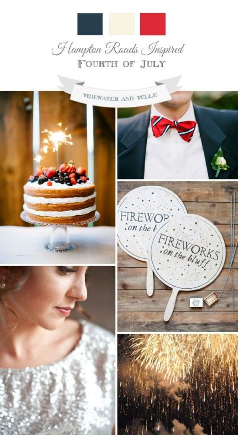 Fourth of July Sparkler Wedding Inspiration | Tidewater and Tulle http://www.tidewaterandtulle.com/2014/06/fireworks-wedding-inspiration.html