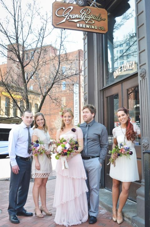 Boho Brewery Wedding Inspiration at Grand Rapids Brewing Co. the Number One Beer City in the US! | Nicole Marie Photography | See More! https://heyweddinglady.com/boho-brewery-wedding-inspiration-in-rich-jewel-tones/