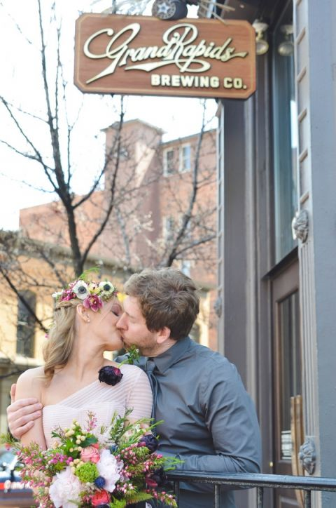 Charming Bohemian Styling for a Brewery Wedding Shoot | Nicole Marie Photography | See More! http://heyweddinglady.com/boho-brewery-wedding-inspiration-in-rich-jewel-tones/