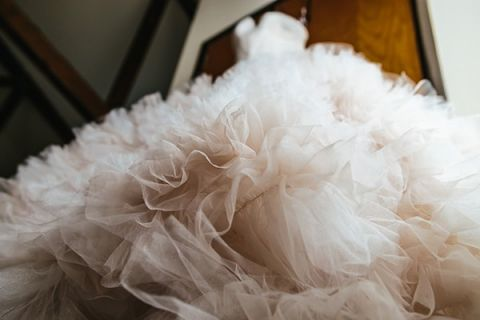 Epic Ruffled Wedding Dress for Country Chic Wedding | Tim Kyle Photography | See More! http://heyweddinglady.com/cowgirl-up-the-ultimate-country-chic-bridal-portraits/