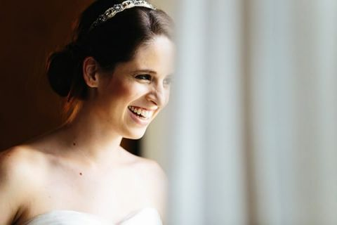 Clean and Classic Bridal Makeup with a Jeweled Headband | Tim Kyle Photography | See More! http://heyweddinglady.com/cowgirl-up-the-ultimate-country-chic-bridal-portraits/