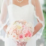 Delicate Ombre Bridal Bouquet from Blush to Pink | Onelove Photography | See More! http://heyweddinglady.com/pink-mint-and-gold-wedding-with-lots-of-sparkle/