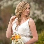 French Country Chic Bridal Style with Orange and White Flowers and a Loose Fishtail Braid | Amy Allen Photography | See More! http://heyweddinglady.com/french-country-chic-wedding-style/