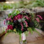 Lush Bridal Bouquet in Deep Purple and Burgundy | heidi-o-photo | See More! https://heyweddinglady.com/rustic-winery-wedding-in-southern-california/