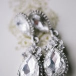 Glam Pear Shaped Crystal Earrings | Blaine Siesser Photography | See More! https://heyweddinglady.com/classic-glam-wedding-in-crystal-white-and-blush/
