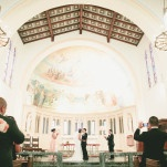 Romantic Cathedral Wedding Ceremony at St. Philip The Apostle | Onelove Photography | See More! https://heyweddinglady.com/pink-mint-and-gold-wedding-with-lots-of-sparkle/
