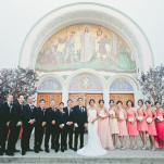 Gorgeous Pink Ombre Bridesmaids | Onelove Photography | See More! http://heyweddinglady.com/pink-mint-and-gold-wedding-with-lots-of-sparkle/