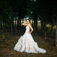 Epic Ruffled Ball Gown for a Romantic, Rustic Wedding Styled Shoot at Lone Oak Barn | Tim Kyle Photography | See More! http://heyweddinglady.com/cowgirl-up-the-ultimate-country-chic-bridal-portraits/