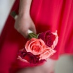 Red and Pink Bridesmaids Bouquets | Maru Photography | See More! https://heyweddinglady.com/glamorous-red-and-blush-wedding-from-maru-photography/