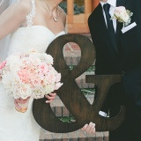 Adorable Ampersand Wedding Portraits with Classic Details | Onelove Photography | See More! http://heyweddinglady.com/pink-mint-and-gold-wedding-with-lots-of-sparkle/