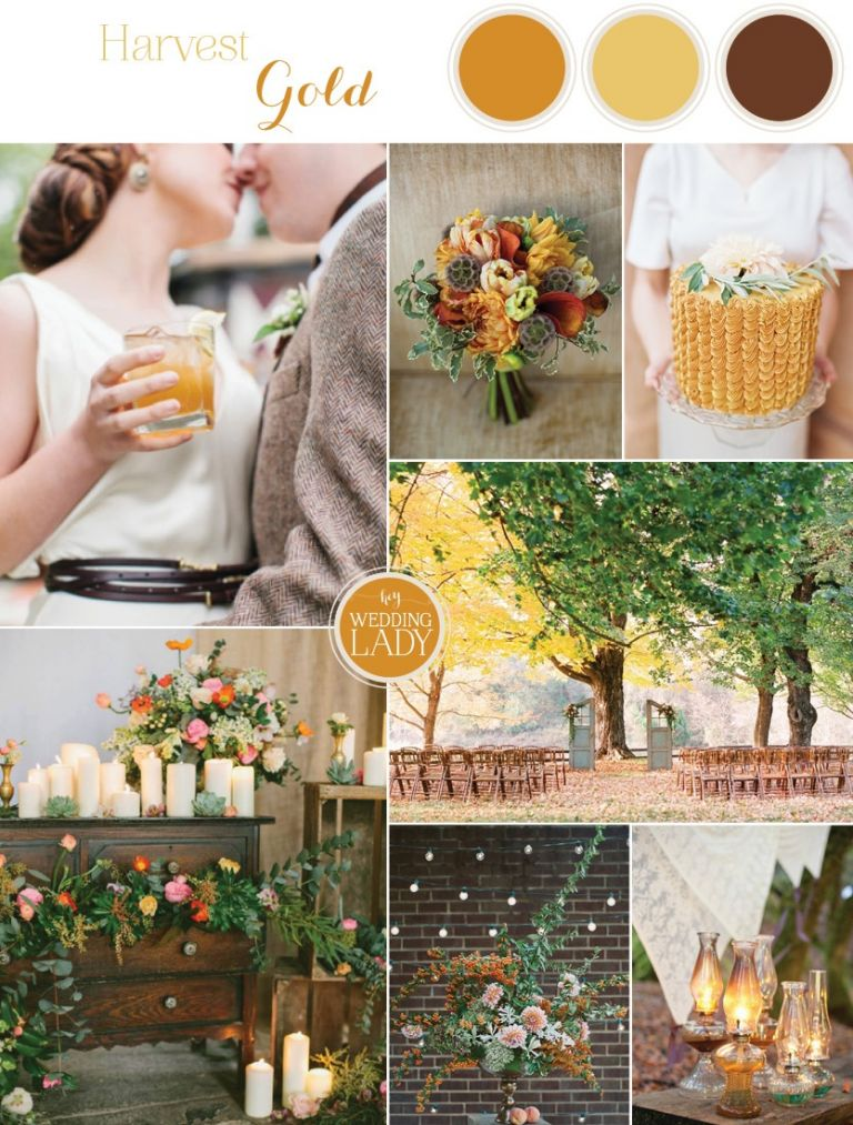Harvest Gold Wedding Inspiration in Rich Autumn Hues | See More! https://heyweddinglady.com/harvest-gold-wedding-inspiration-in-rich-autumn-hues/