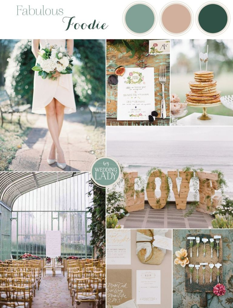 Fabulous Foodie Wedding Inspiration with Botanical Details in Frost Green and Taupe | See More! https://heyweddinglady.com/foodie-wedding-inspiration-with-botanical-details/