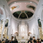 Elegant Cathedral Wedding in Saints | Blaine Siesser Photography | See More! http://heyweddinglady.com/classic-glam-wedding-in-crystal-white-and-blush/