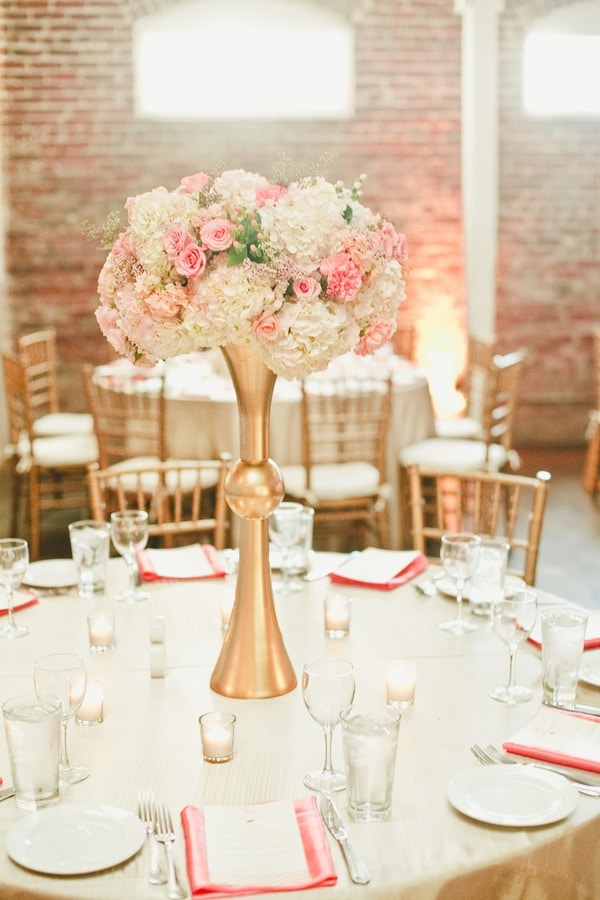 Pink mint and gold wedding with lots of sparkle hey