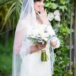 Stunning Vintage Styled Bride in a Lace Veil and Custom Made Wedding Dress | Dawn Heumann Photography | See More! https://heyweddinglady.com/romantic-bespoke-wedding-handmade-by-friends/