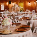 Blush Pink and Cashmere Black Tie Wedding Reception | PhotoHouse Films | See More! https://heyweddinglady.com/sweetly-opulent-black-tie-texas-wedding/