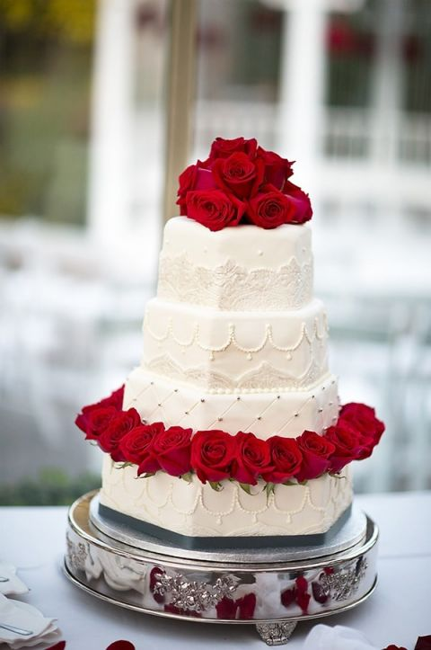 Red And White Wedding Cakes 48 Cool Classic White and Red