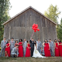 Glamorous Red and Blush Wedding from Maru Photography