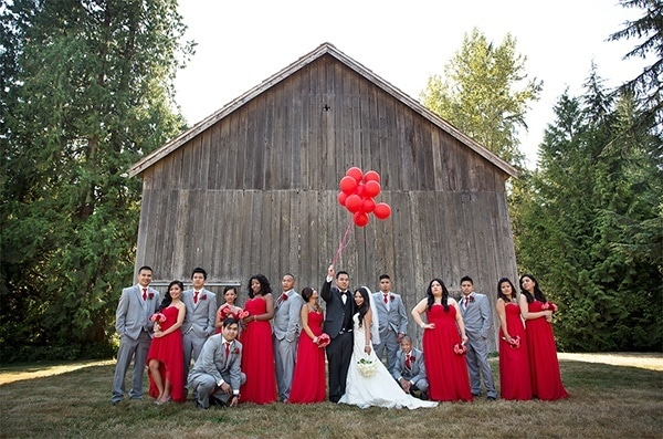 Glamorous Red and Blush Wedding from Maru Photography - Hey ...