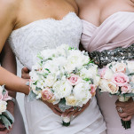 Classic Glam Wedding in Blush, White, and Crystal | Blaine Siesser Photography | See More! https://heyweddinglady.com/classic-glam-wedding-in-crystal-white-and-blush/