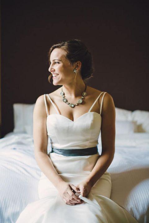 Modern Chic Bridal Style | Oldani Photography | See More! https://heyweddinglady.com/modern-chic-blue-white-and-silver-wedding
