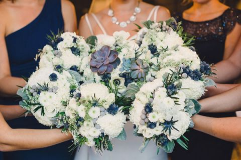 Modern Chic Blue, White, and Silver Wedding - Hey Wedding Lady